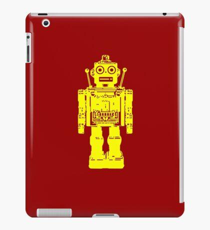 Retro robot geek funny nerd iPad Case/Skin