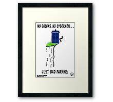 Doctor Who- Bad Parking! Framed Print