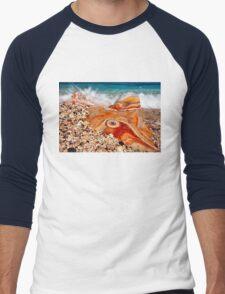 Psychedelic rock splash Men's Baseball ¾ T-Shirt