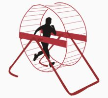 human/hamster jogging by 2piu2design