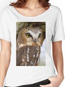 Saw Whet Owl - Amherst Island, Ontario Women's Relaxed Fit T-Shirt