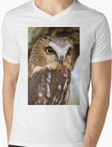 Saw Whet Owl - Amherst Island, Ontario Mens V-Neck T-Shirt