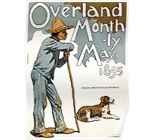 Poster 1890s Overland Monthly magazine cover 1895 Poster
