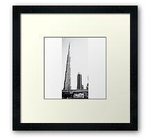 Black and White Burj Khalifa Framed Print