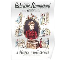 Poster 1890s Gabrielle Bompétard Poster