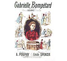 Poster 1890s Gabrielle Bompétard Photographic Print