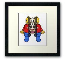 Lego Man Dissected Framed Print
