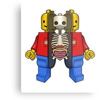 Lego Man Dissected Metal Print