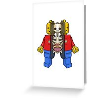 Lego Man Dissected Greeting Card