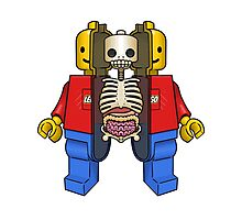 Lego Man Dissected Photographic Print