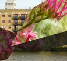 xz london waterside floral Sticker