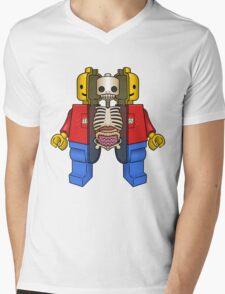 Lego Man Dissected Mens V-Neck T-Shirt