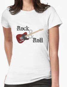 Rock & Roll Guitar Womens Fitted T-Shirt