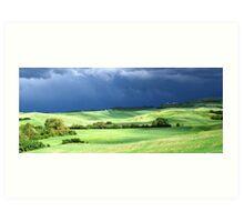 Storm Over Siena-Siena, Itlay Art Print