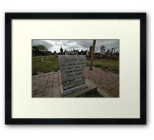 Thunderbolt's Grave, Uralla, Australia 2009 Framed Print