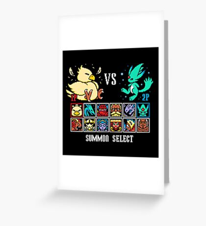 SUMMON FIGHTER Greeting Card