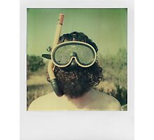 Fins, goggles and rifle Photographic Print