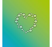 heart of water drops Photographic Print