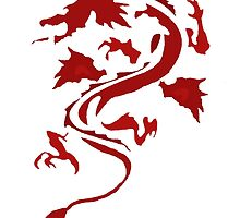 Fire Breathing Dragon - red by Presumably