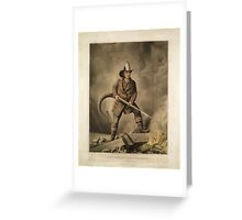 The American Fireman: Facing the Enemy (1858) Greeting Card