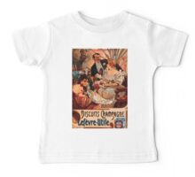 Poster 1890s Alfons Mucha 1896 Biscuits ChampagneLefèvreUtile Baby Tee