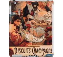 Poster 1890s Alfons Mucha 1896 Biscuits ChampagneLefèvreUtile iPad Case/Skin