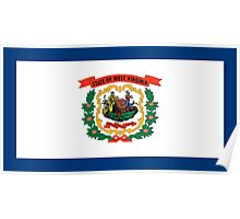 State Flags of the United States of America -  West Virginia Poster