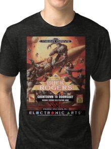 Buck Rogers Mega Drive Cover Tri-blend T-Shirt
