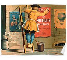 Poster 1870s Man posting an advertisement for La publicité en France par Emile Mermet Poster