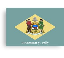 State Flags of the United States of America -  Delaware Canvas Print
