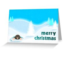 Merry Christmas Mole Greeting Card