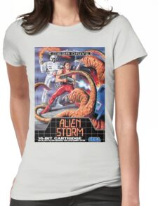 Alien Storm Mega Drive Cover Womens Fitted T-Shirt