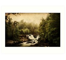Once upon a time.. a waterfall Art Print