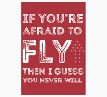 if you're afraid to fly (red) Kids Clothes