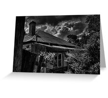 Cat on a hot tin roof Greeting Card