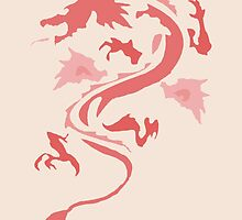 Fire Breathing Dragon - pink by Presumably