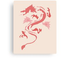 Fire Breathing Dragon - pink Canvas Print