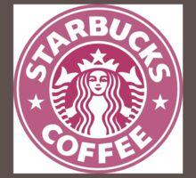 Pink Starbucks Logo One Piece - Short Sleeve