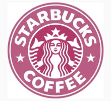 Pink Starbucks Logo One Piece - Short Sleeve