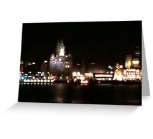 Liverpool in blurr Greeting Card