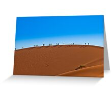 On a giant sand dune Greeting Card