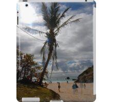 Palm tree on the beach iPad Case/Skin