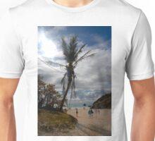 Palm tree on the beach Unisex T-Shirt