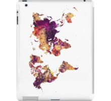 World Map purple iPad Case/Skin