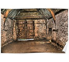 The Tithe Barn Large Door End Poster