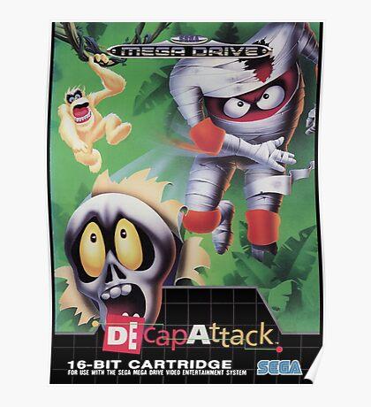 DeCap Attack Mega Drive Cover Poster