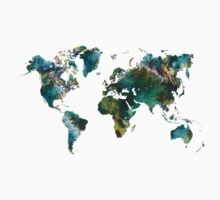 World Map tree Kids Clothes