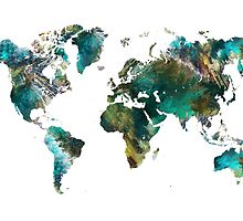 World Map tree by JBJart