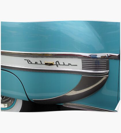 Turquoise Chevrolet BelAir Poster