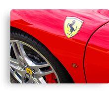 Red Ferrari Detail Canvas Print